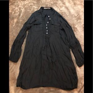 Zara Basic Black vintage blouse top size XS
